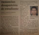 A dos años de la desaparición de Edward Francisco Contreras