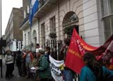 Piquete de solidaridad con Honduras en Londres
