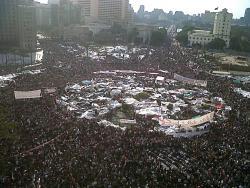 ¡Mubarak ha caído! – ¡Revolución hasta la victoria!