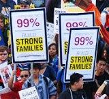Estados Unidos: Oakland, California. Poderosa manifestación de 30.000 personas en respuesta al llamado a huelga general