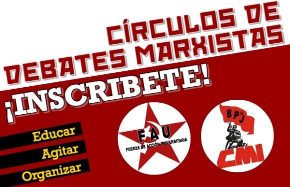 Inscríbete a los Círculos de Debate Marxista en la UES