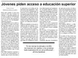 Movimiento de Estudiantes No Aceptados en Diario Colatino
